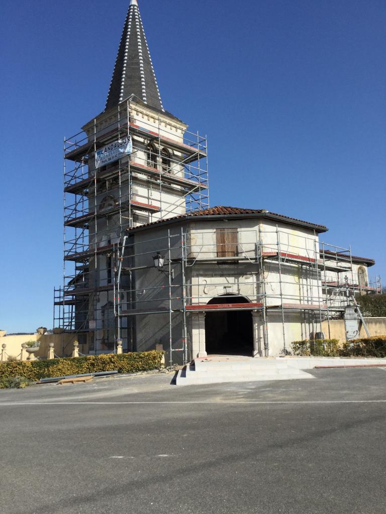 Travaux de ravalement des façades extérieures de l'église