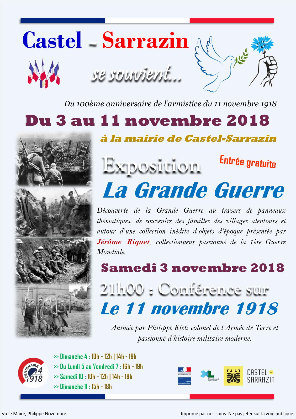 Affiche exposition 14-18